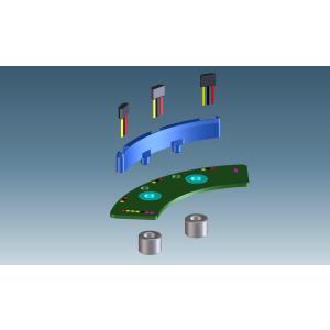 Sensorplatine 765 10 Pol mit T-Sensor KTY84-130