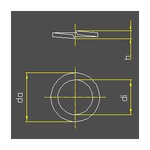 Federringe DIN 127 | Form B 10 (glatt)