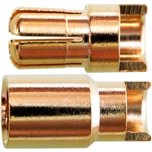 6,0 mm Buchse / Stecker geschlitzt 1 Paar
