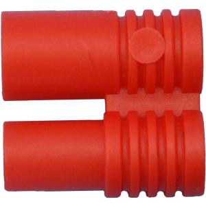 Kunststoff-Griff für Stecker / Buchse 3,5 mm rot
