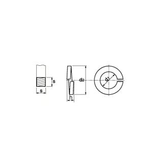 Federring für Zylinderschrauben DIN 7980 | M 10