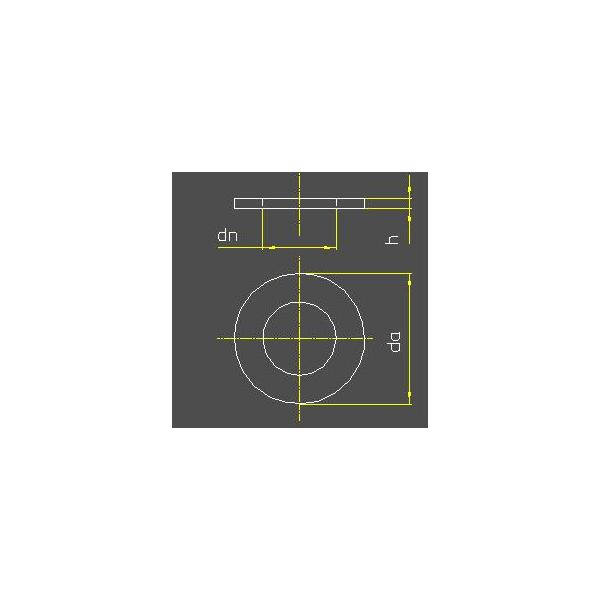 Unterlegscheiben DIN 125-1 A2 | M 4,3 Edelstahl