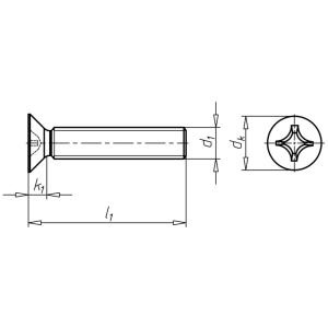Senkkopf DIN 965 | M 5 x 60