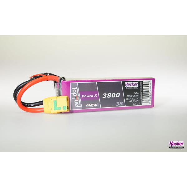 TopFuel LiPo 35C Power-X 3800mAh 3S MTAG