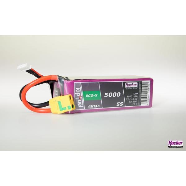 TopFuel LiPo 20C ECO-X 5000mAh 5S MTAG