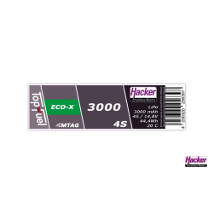 TopFuel LiPo 20C ECO-X 3000mAh 4S MTAG