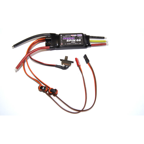 MasterSPIN 66 Pro (2 - 6 Lipo, 66A, BEC 2.5A)