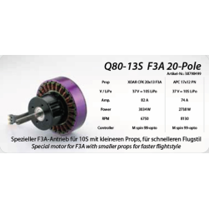 Q80-13S 20-Pole kv215 F3A
