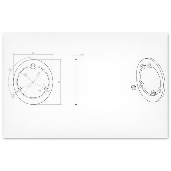 Ringspant   Montagespant   LK 59   120x100x4mm