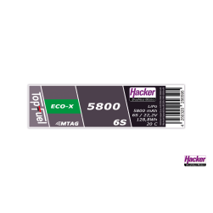 TopFuel LiPo 20C ECO-X 5800mAh 6S MTAG