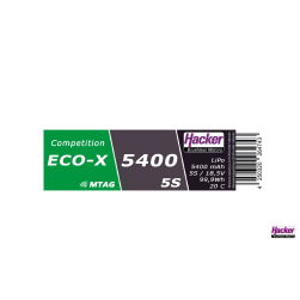 TF LiPo 20C ECO-X 5400mAh 5S Competition MTAG