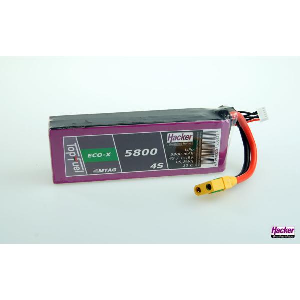 TopFuel LiPo 20C ECO-X 5800mAh 4S MTAG