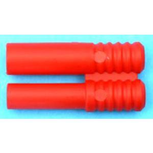 Kunststoff-Griff für Stecker / Buchse 4 mm rot